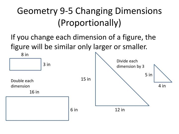 Geometry 9 5 changing dimensions proportionally