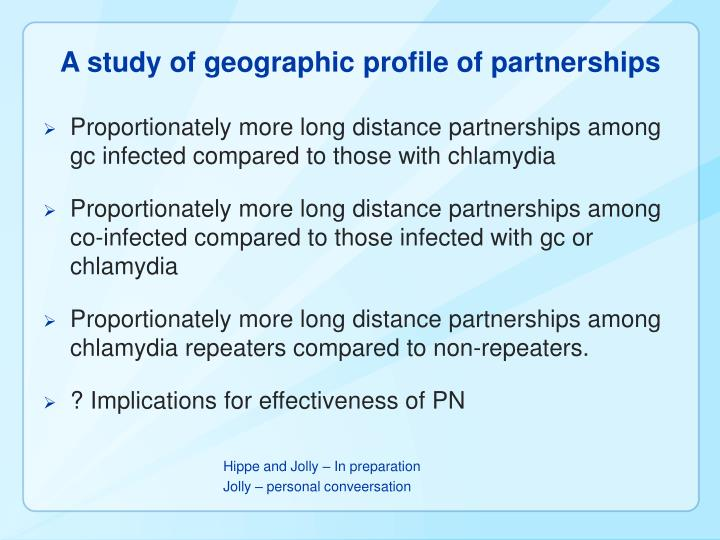 A study of geographic profile of partnerships