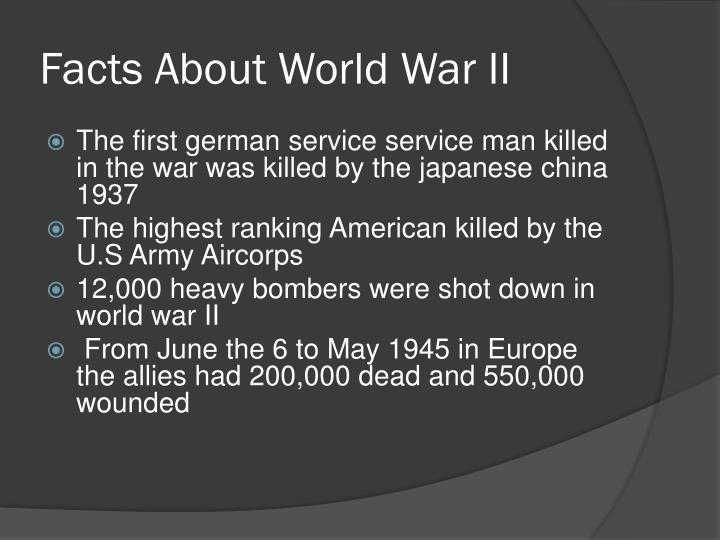 Facts About World War II