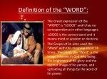 definition of the word