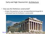 early and high classical art architecture1