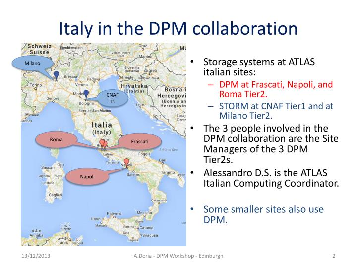 Italy in the dpm collaboration