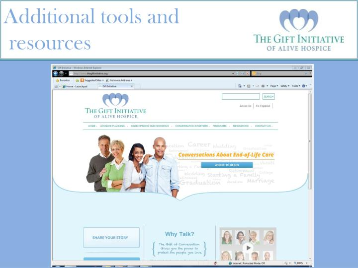 Additional tools and
