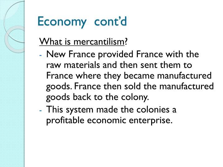 Economy  cont'd