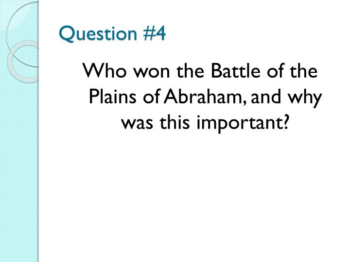 Question #4