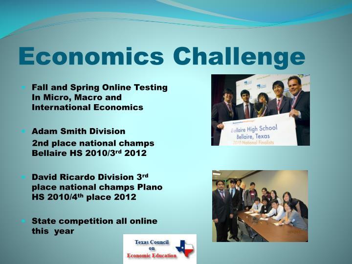 Economics Challenge