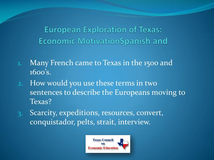 European Exploration of Texas: