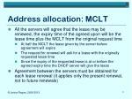 address allocation mclt1