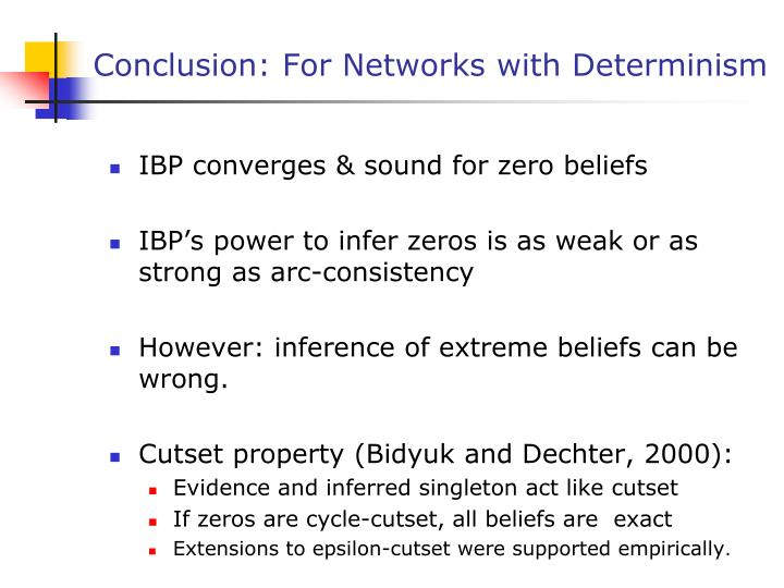 Conclusion: For Networks with Determinism