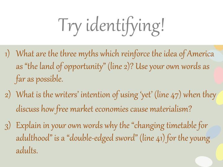 Try identifying!