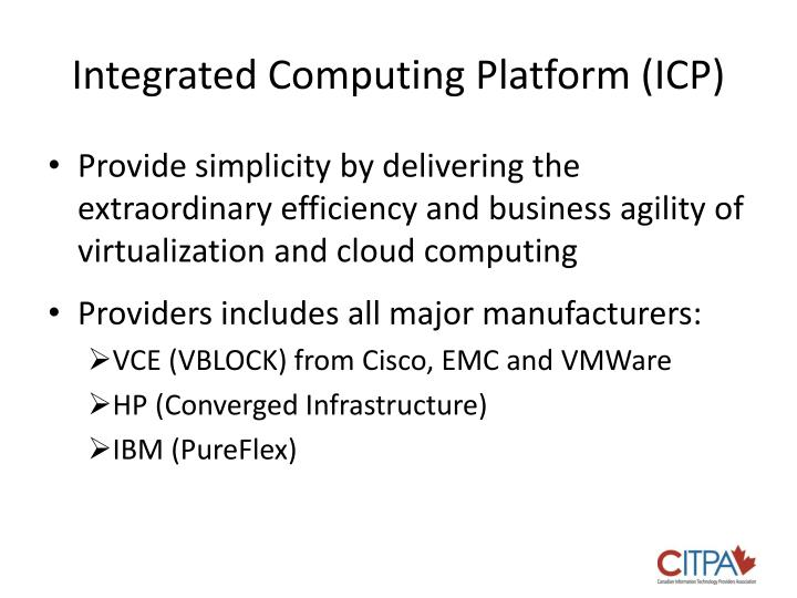 Integrated computing platform icp