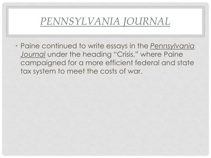 Pennsylvania Journal