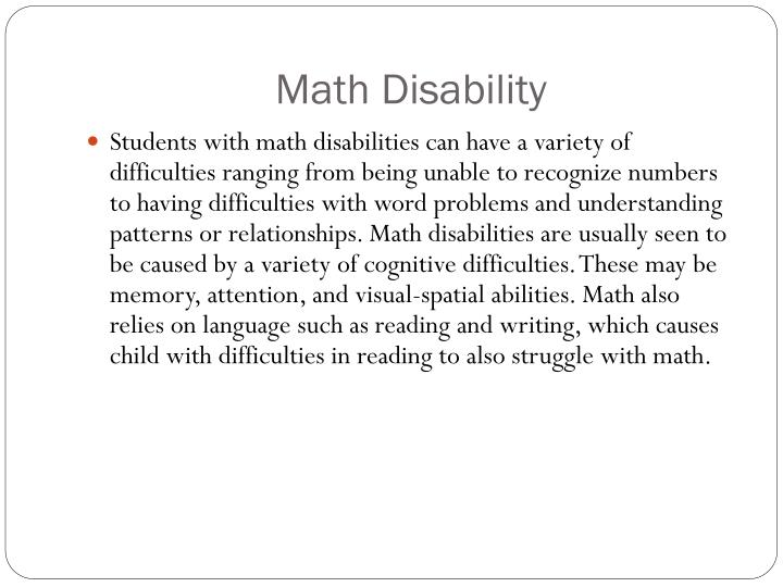 Math Disability
