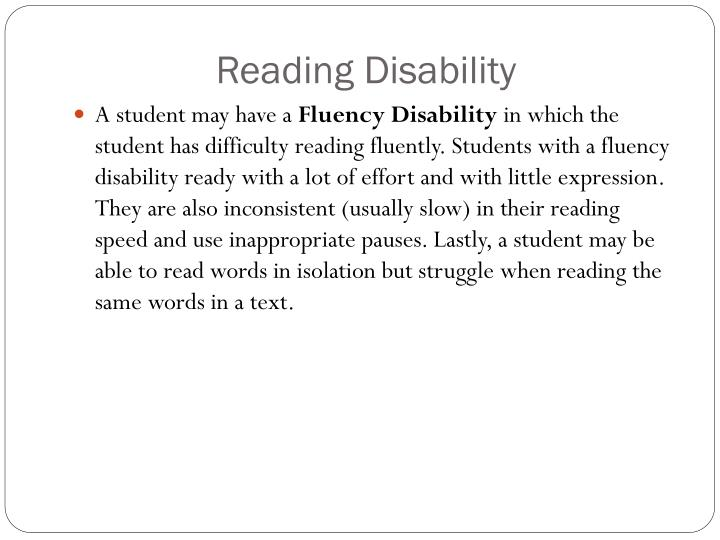 Reading Disability