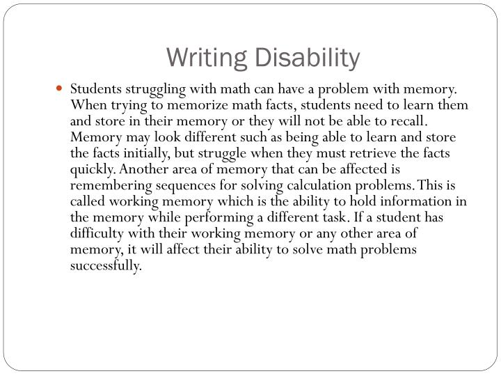 Writing Disability