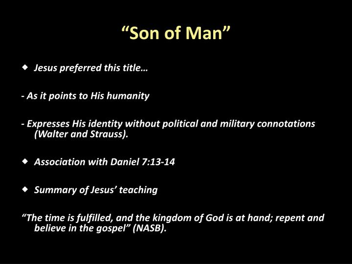 """Son of Man"""