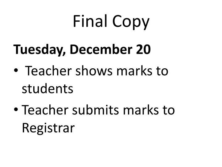 Final Copy