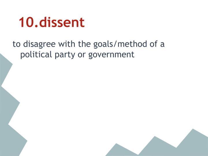 10.dissent