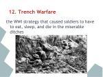 12 trench warfare