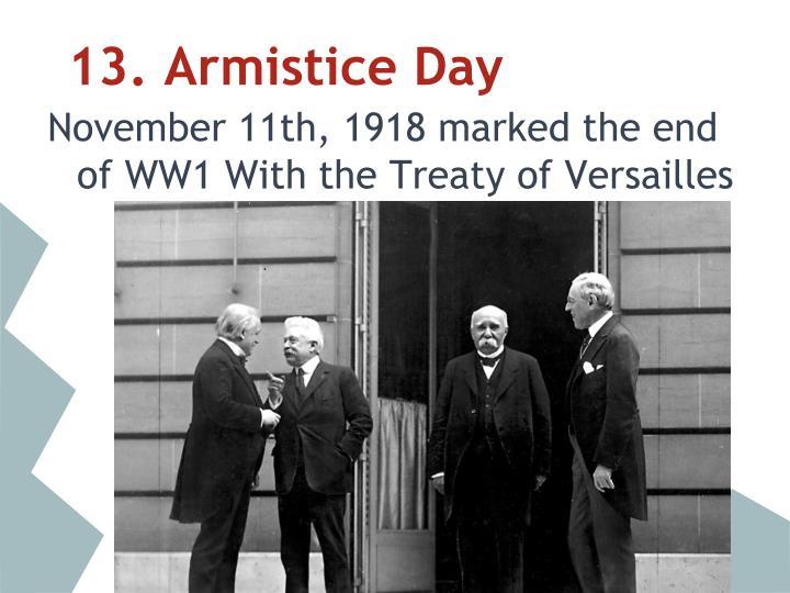 13. Armistice Day