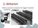 2 militarism