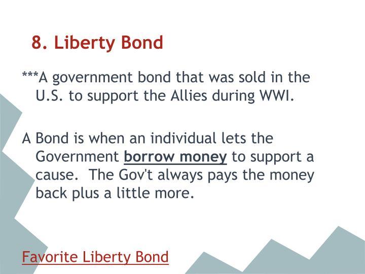 8. Liberty Bond