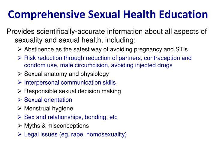 Comprehensive Sexual Health Education