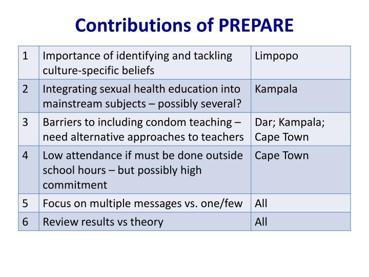 Contributions of PREPARE