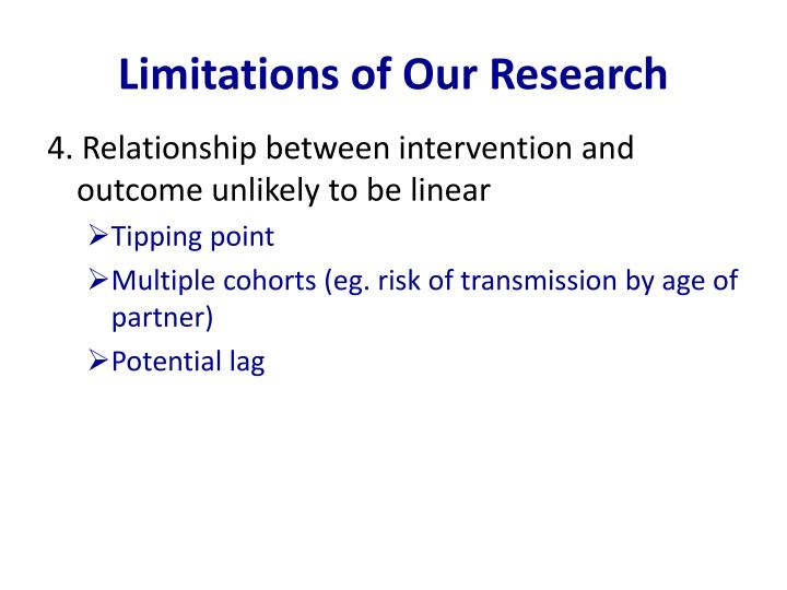 Limitations of Our Research