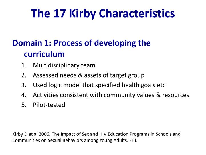 The 17 Kirby Characteristics