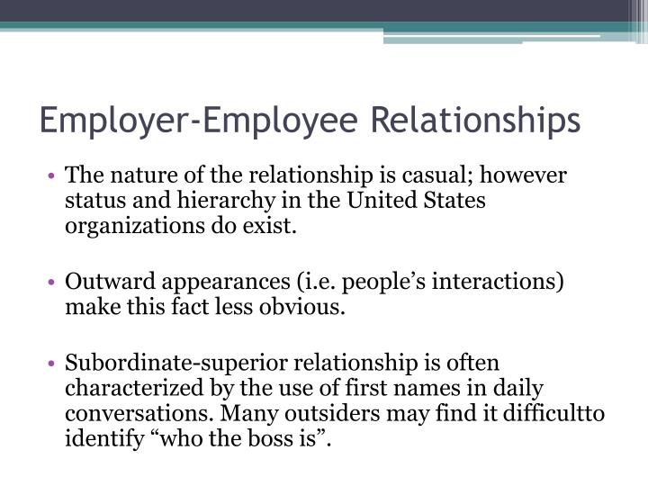 Employer-Employee Relationships