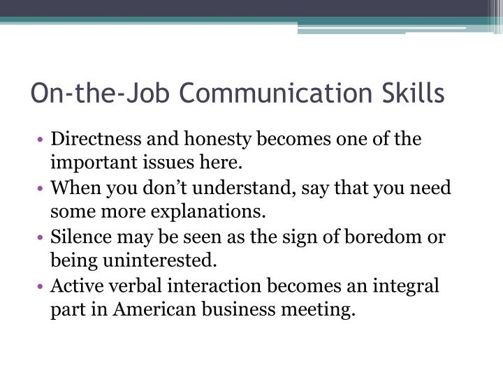 On-the-Job Communication Skills