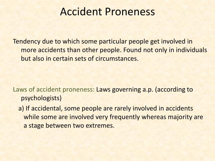Accident Proneness