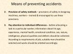means of preventing accidents1