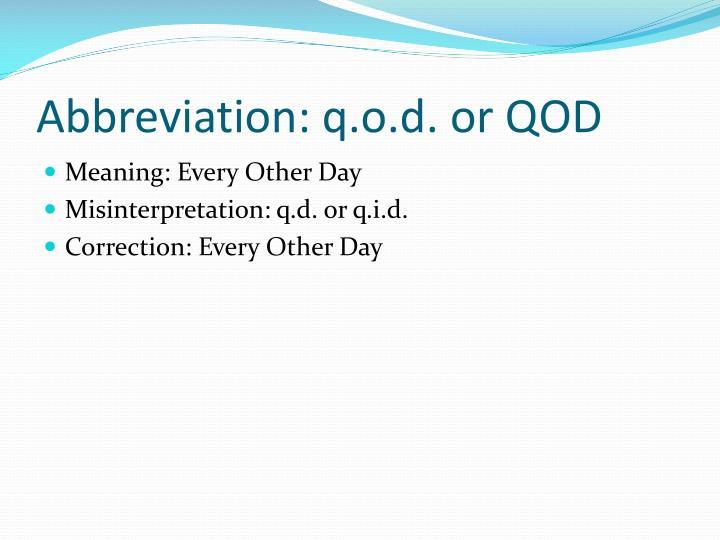 Abbreviation:
