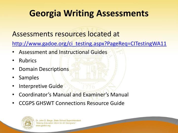 Georgia Writing Assessments