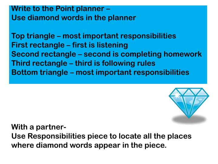 Write to the Point planner –
