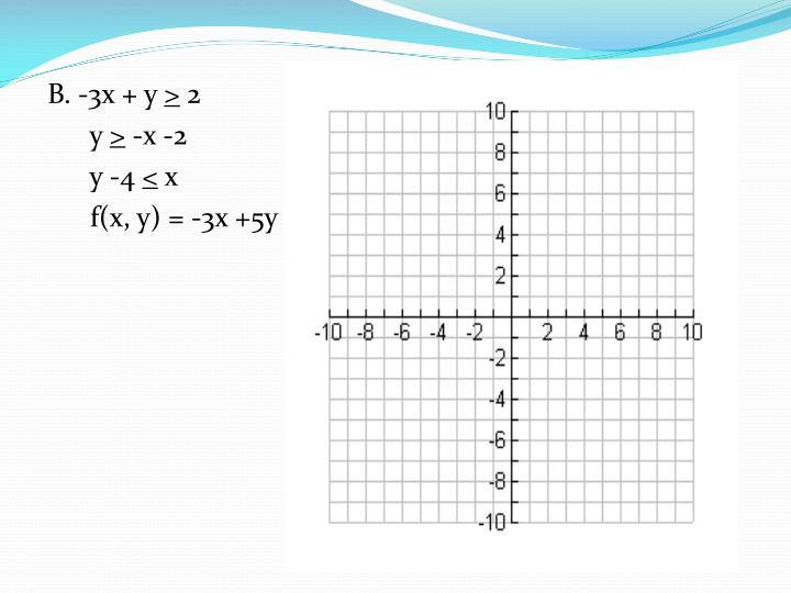 B. -3x + y