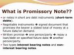 what is promissory note