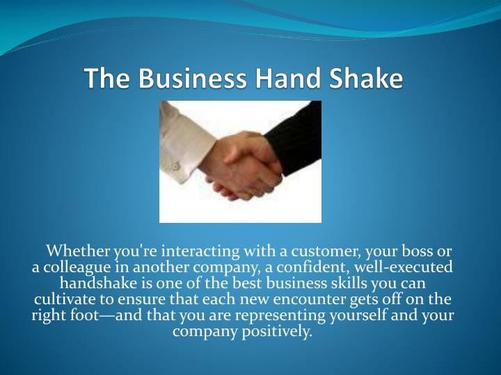 The business hand shake