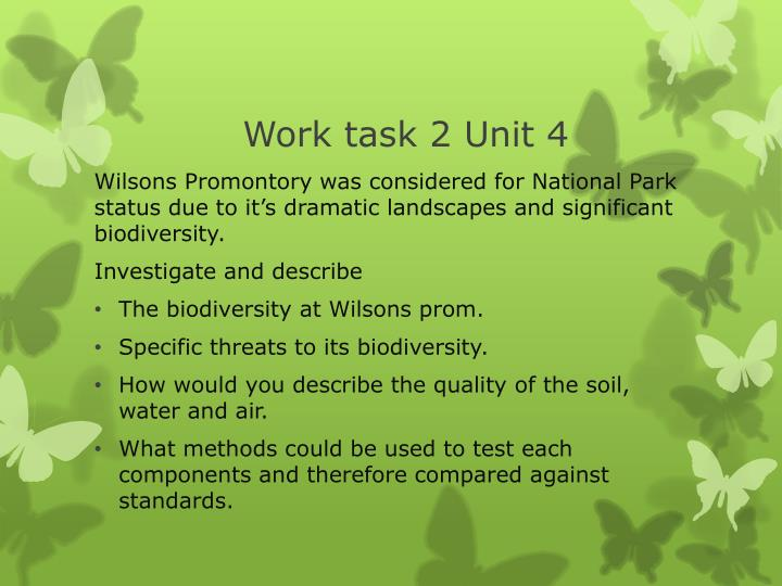 Work task 2 Unit 4