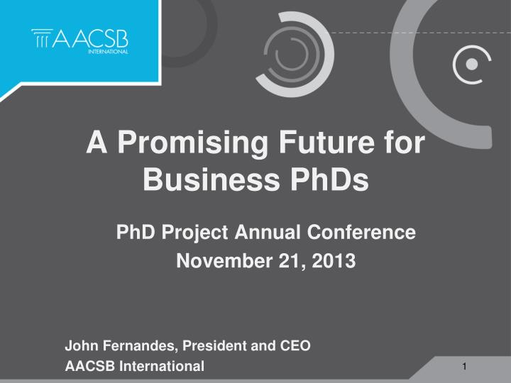 A promising future for business phds