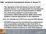 pbc proposed amendments annex 6 annex 11