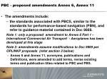 pbc proposed amendments annex 6 annex 111
