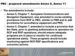 pbc proposed amendments annex 6 annex 112