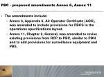 pbc proposed amendments annex 6 annex 113