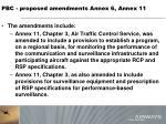 pbc proposed amendments annex 6 annex 114