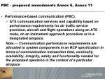 pbc proposed amendments annex 6 annex 116