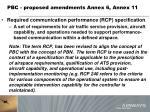 pbc proposed amendments annex 6 annex 117