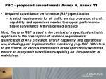 pbc proposed amendments annex 6 annex 118